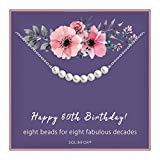 80th Birthday Gifts for Women - Sterling...