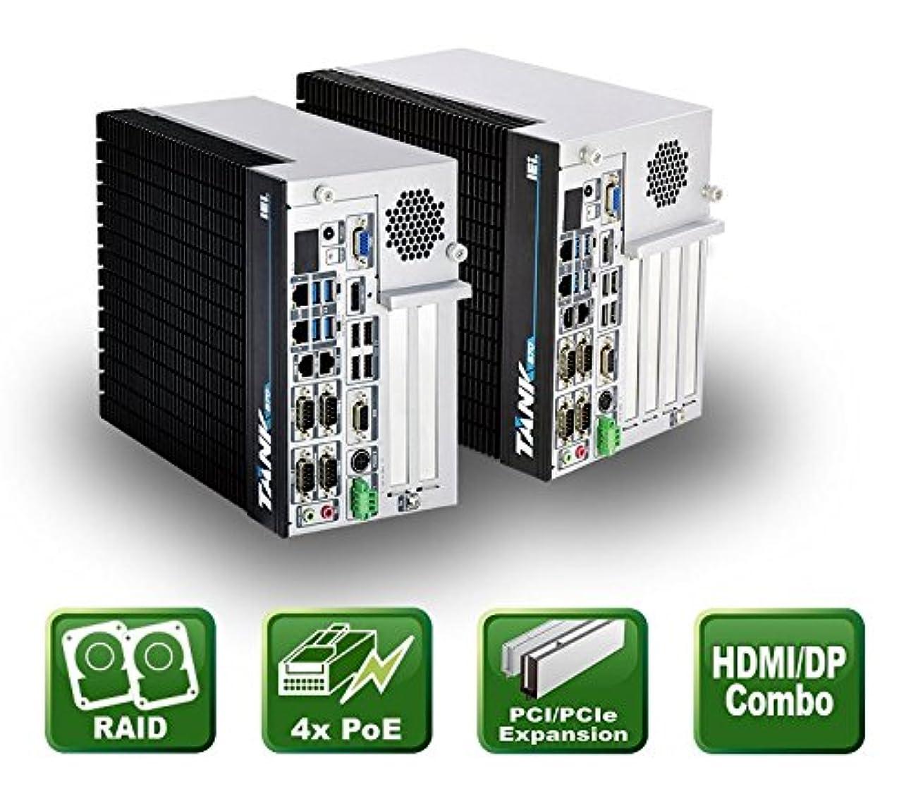 運営十分ではない重荷IEI 産業用ファンレス組込みPC Intel Core i7-6700TE搭載 PCIe(16)×1+PCI×3スロット搭載 メディア&OSレスモデル TANK-870-Q170i-i7/4G/4B