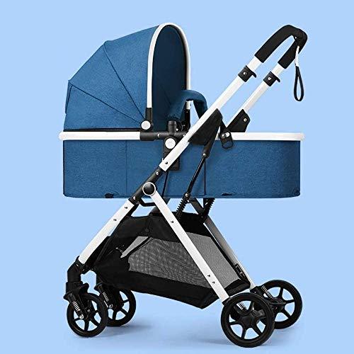 Landaus High View Poussette bébé, Poussette Buggy Compact, Portable Pram Transport Anti-Choc Poussette Fournitures pour bébé ( Color : Blue )