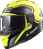 LS2 390-1345 Full Face Motorcycle Helmet (Yellow, XL)
