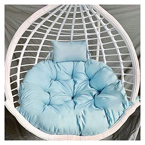 LLNN Home Decoration Swing Chair Cushion Egg Hammock Chair Pads Chair Seat Cushioning, Hanging Basket Seat Cushion for Patio Garden Diameter 105cm Hanging Basket Furniture Cushion (Color : Sky Blue)