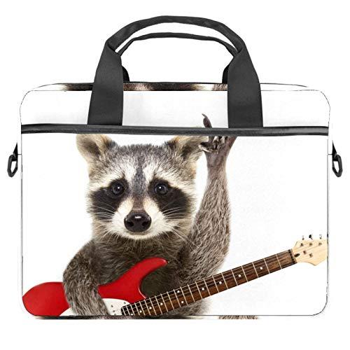 Bolso bandolera para portátil de 14,5 pulgadas, con diseño de mapache mecedora con guitarra, bolso...