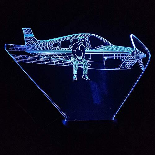 3D Symphony Lights LED Nachtlicht Flugzeuglicht 7 Farbwechsel Touch USB Jet Schreibtischlampe Schlafzimmer Beleuchtung Kindergeburtstag Weihnachtsgeschenke