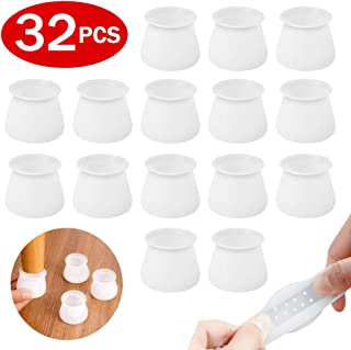 Silicone Furniture Chair Leg Caps - Furniture Leg Silicon Protection Cover - Anti Slip Chair Leg Caps Prevent Scratches and Noise,32PCS