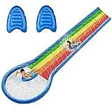 Tobogán Acuático Doble para Niños/Adultos con 2 tablas de surf de PVC extra grueso 600x150cm Toboganes De Agua para Piscinas Pista Deslizante Hinchable Juegos De Piscina En El Patio Trasero De Verano