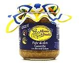 Patè Cunzato di Olive Siciliane con Aglio prodotto in Sicilia (180g) come da tradizione dell'antica ricetta Artigianale della Nonna Sicula - Prodotti Tipici Siciliani Malaseno