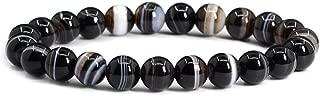 Justinstones Gem Semi Precious Gemstone 8mm Round Beads Stretch Bracelet 7 Inch Unisex