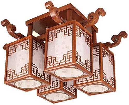Duurzame plafondlampen moderne Chinese stijl LED plafondlamp, stijlvolle massief hout plafondlamp, balkon gang slaapkamer studie huis decoratieve licht plafond verlichting plafondlampen ( Maat: 6 heads-9