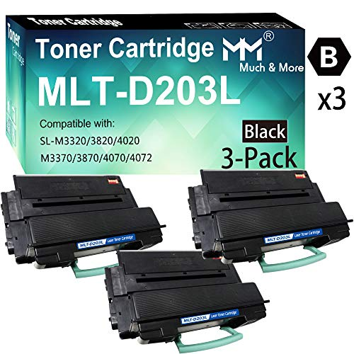 3-Pack Black Compatible D203L MLT-D203L Toner Cartridge 203L High Yield Used for Samsung ProXpress M3370FD M3870FW M4070FR M3320ND M3820DW M4020ND Laser Printer, by MuchMore