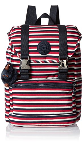 Kipling - Experience S, Mochilas Mujer, Multicolour (Sugar Stripes), 26x32x16 cm (W x H x L)