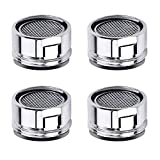 Faucet Aerator Kitchen Sink Aerator Replacement Parts with Brass Shell 15/16-Inch Male Threads Aerator Faucet Filter with Gasket for Kitchen Bathroom - 4 Pack