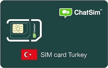 Tarjeta SIM internacional para viajes a TURQUÍA y en todo el mundo – ChatSim – cobertura 165 Países, roaming global – red multioperador GSM/2G/3G/4G, sin costes fijos. 1 GB para 30 días