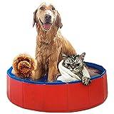 WEILY Faltbares Hundehund Pool Baden Badewanne, Extra Large Pet Badewanne - faltbar Sommerpool, Außen Badewanne zusammenklappbarer für Small Medium Large Hunde,L