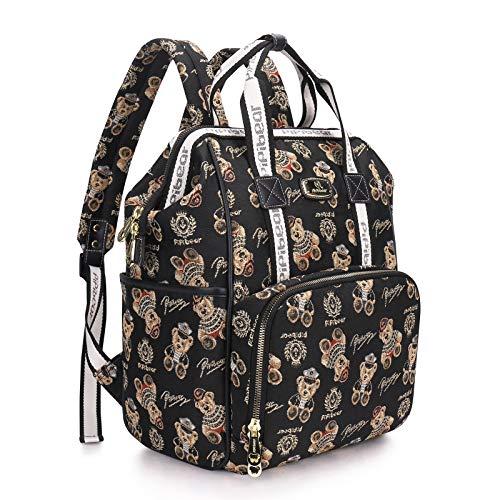 Pipi bear Mochila cambiadora de pañales, Jacquard bolsa cambiadora, mochila de viaje para bebé para mamá y papá