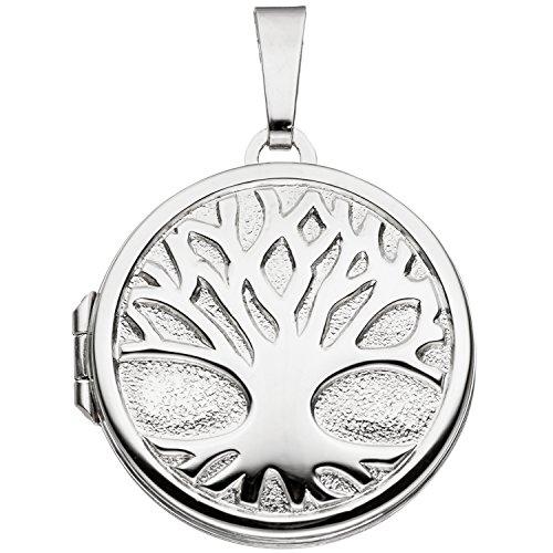 JOBO Damen-Medaillon aus 925 Silber zum Öffnen für 2 Fotos
