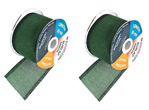 Green Burlap Ribbon