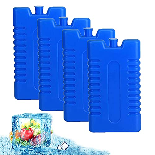 Bolsas De Hielo para Neveras, Reutilizables y Duraderas Bolsas De Hielo para Mantener La Comida Fría y Fresca Bolsa De Hielo para La Lonchera y La Nevera, 4 Piezas