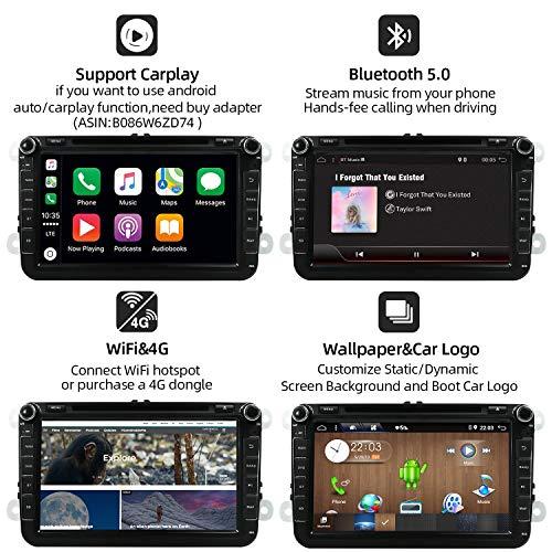 """JOYX Android 10 Autoradio Pour VW Golf Bora CC Polo Jetta Passat Tiguan Skoda Seat   2 DIN   8"""" 2G+32G   Caméra arrière et canbus GRATUITES   Soutien Dab+ GPS Navigation Volant BT OBD WLAN Carplay"""