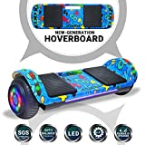 Beston Sports Newest Generation Electric Hoverboard Dual Motors Two Wheels Hoover Board Smart self Balancing Scooter with Built in Speaker LED Lights for Adults Kids Gift (-Image 2)