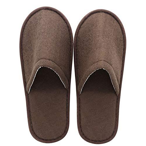 Uni-Wert 10 Pares de Zapatillas Desechables Unisex Zapatillas de SPA Zapatillas Antideslizantes Zapatillas de Hotel con Puntera Cerrada para Invitados, Viaje, Hogar, Baño
