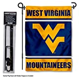 College Flags & Banners Co. West Virginia Mountaineers Garden Flag with Stand Holder