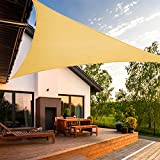Artpuch Sun Shade Sail 15' x 15' x 21' Wall Triangle UV Block for Shelter Canopy Patio Garden Outdoor Facility Sand and Activities