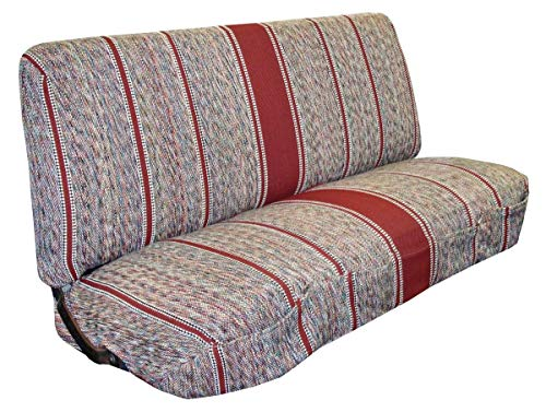West Coast Auto Universal Baja Saddle Blanket Bench Full Size Seat Cover Fits Ford, Chevrolet, Dodge, and Full Size Pickup Trucks (Red)