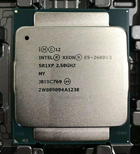 MAO YEYE Procesador Intel E5-2680 V3 SR1XP 2.5Ghz 12 núcleos 30MB Socket LGA 2011-3 Xeon CPU E5 2680 V3 (reacondicionado)