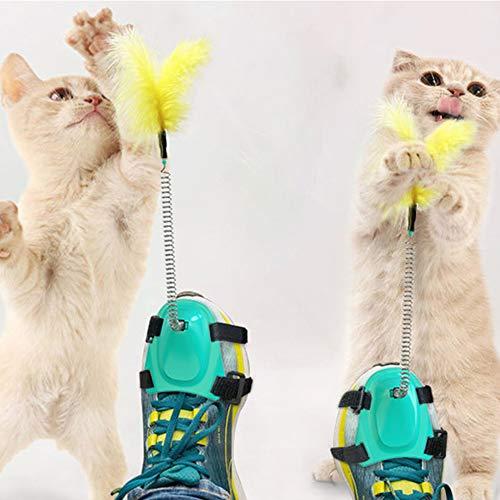 TWH Katzenspielzeug mit Federn, 2 Stück (ein Paar)