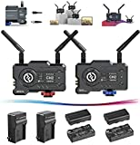 Hollyland Mars 400S Pro Wireless 400ft 1080p HDMI & SDI Video & Audio Transmission System 5G 80ms Latency APP Support Android & iOS Live Stream Transmitter/Receiver 4 Battery pack & 2 Portable Charger