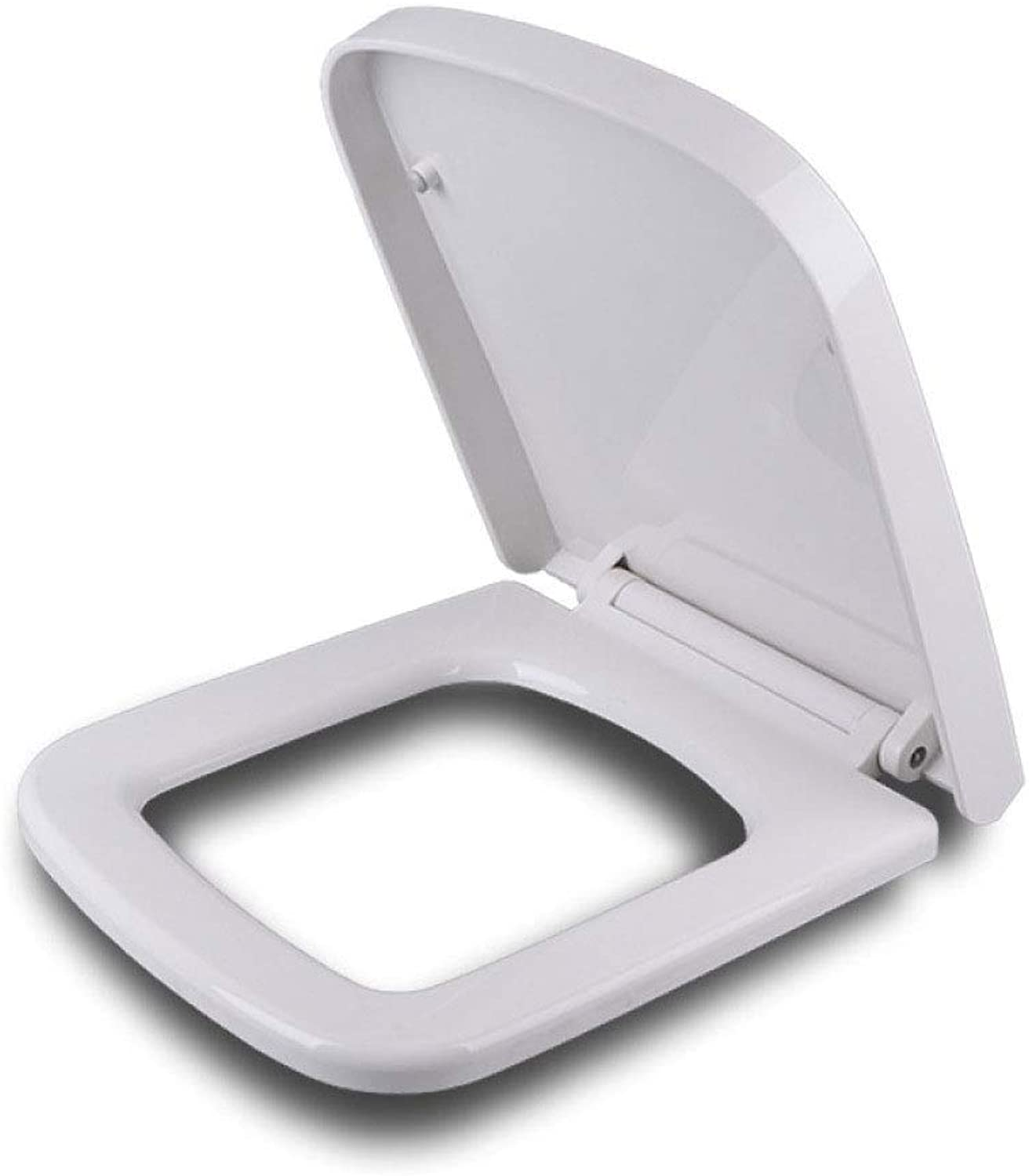 CZTC Universal Toilet Seat Square Drop Mute Antibacterial Ultra Resistant Top Mounted Toilet Lid For Bathroom And Washroom