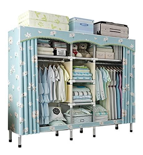 LICHUAN Armario de tela portátil para armario, estantes de armario, organizador de ropa, rápido y fácil de montar, extra fuerte y duradero