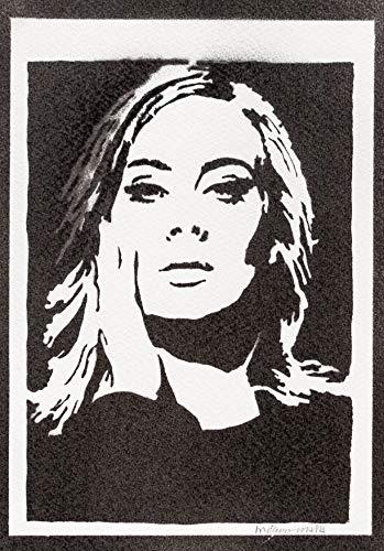 Adele Poster Plakat Handmade Graffiti Street Art - Artwork