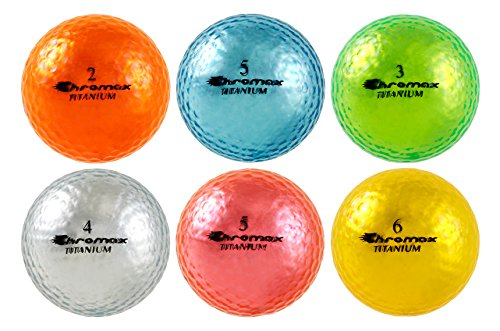 Chromax High Visibility M1x Golf Balls 6-Pack, Assorted Colors