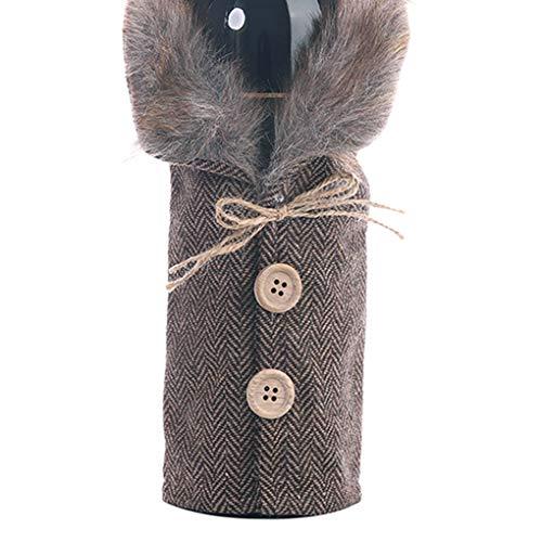 Guangcailun Botella de Vino de Navidad suéter de Cuello de Navidad Cubierta de la Botella de Vestir Inicio Diseño Escudo Botella botón Vestido de Fiesta de Navidad de la decoración del hogar