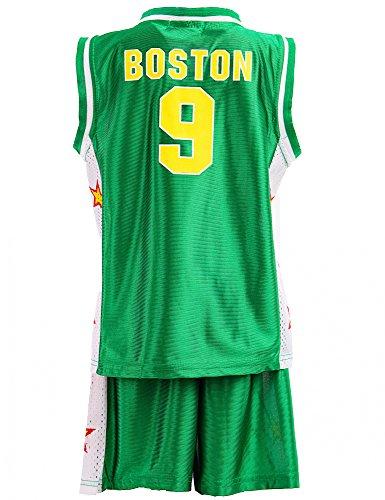 24brands - Jungen Sport Basketball Baseball Shirt Trainings Trikot Teamfarben Chicago Boston Trikot - 2942, Größe:164;Farbe:Boston