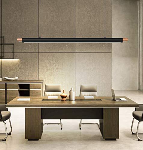 LED Pendelleuchte.Höhenverstellbar 36W LED Hängelampe Esstischleuchte,Moderne Hängeleuchte,Pendelleuchte Holz, für Büroleuchte Schlafzimmerleuchte Wohnzimmerlampe (Naturweiß-4000K)