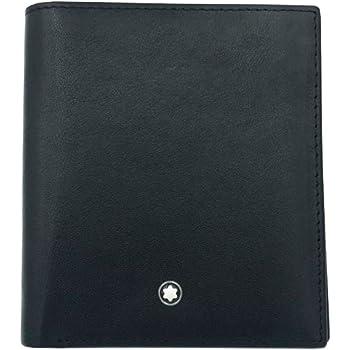 Μοntblаnc Black Men's Leather Folding Wallet 6Cc