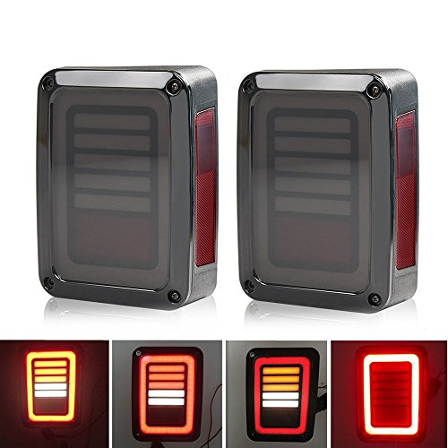 SUNWAN 1 coppia di luci posteriori auto versione europea 9-32V LED luci freno indicatore di direzione LH+RH per Wrangler JK 07-17
