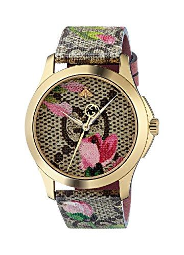 Gucci Reloj Análogo clásico para Mujer de Cuarzo con Correa en Cuero YA1264038