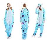generic Unisexe Monstre de Cookie Elmo Alien Mike Wazowski Sully Monstre Onesie Déguisement Pyjama Cosplay Fête Tenue Sweat à Capuche Costume Cadeau de Noël (Sully Monster, S(Height 150cm-160cm))