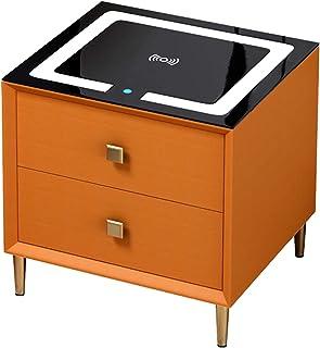 Tables De Chevet À Chargement sans Fil - Armoire Rangement Smart Touch,Table D'appoint/Basse Multifonction avec Tiroir, Ve...