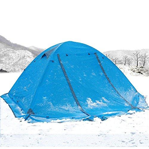 Miao Camping 2 personnes Double couche anti-pluie tentes, bleu