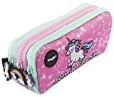 FRINGOO - Trousse à crayons avec 3 compartiments jolie et amusante - Pour enfant Large Born To Sparkle - 3 Compartments
