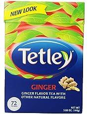 Tetley - Té Ginger - Té con Sabor a Jengibre y otros Sabores Naturales - 72 Bolsitas - 144 Gramos