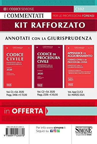 Kit orale rafforzato: Codice civile-Codice di procedura civile-Appendice di Aggiornamento. Marzo 2021. Annotati con la Giurisprudenza
