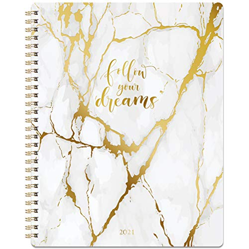 """2021 Planner - Weekly & Monthly Planner 8"""" x 10"""", Jan 2021-Dec 2021, Flexible Cover, to-Do List, Twin-Wire Binding"""