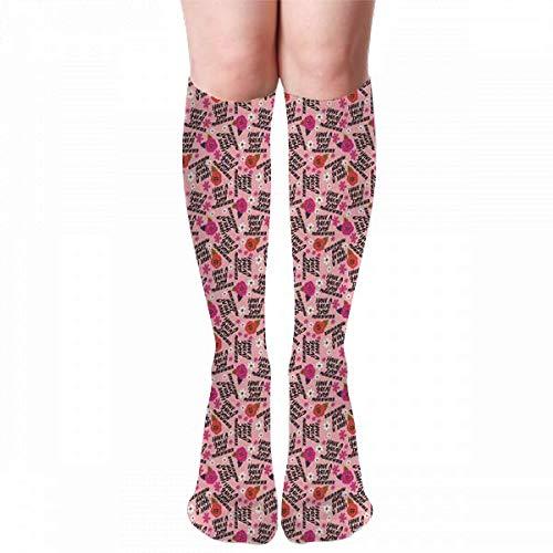 Medlin Teeny Have A Great Day Mfer Calcetines hasta la rodilla para adultos Calcetines de gimnasio al aire libre Calcetines de compresión 50cm 19.7 pulgadas