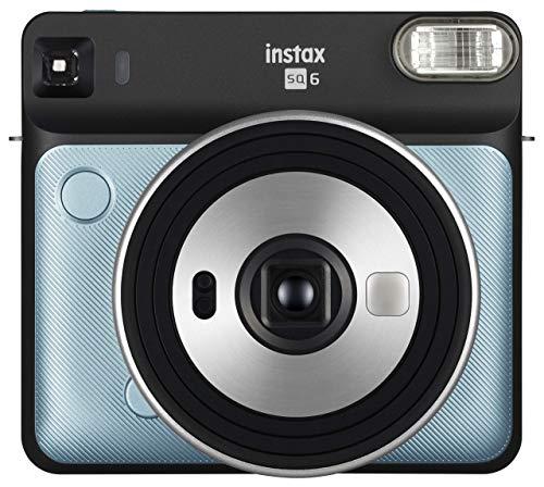 Fujifilm Instax SQ6 - Cámara analógica instantánea Formato Cuadrado, Color Azul Agua