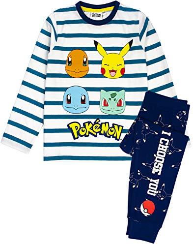 Pokemon Pajamas Pikachu Personnages Enfants Rayés T-Shirts et Pantalons Pajamas 7-8 Ans